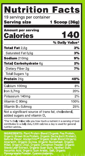OPTIMUM NUTRITION GOLD STANDARD-100 PLANT PROTEIN