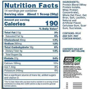 OPTIMUM NUTRITION-WHEY OATS